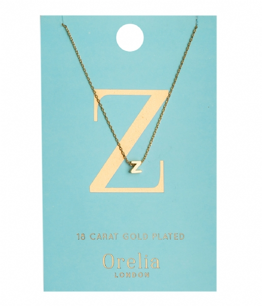 Orelia Ketting Necklace Initial Z pale gold (ORE21172)