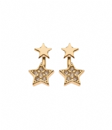 Orelia Star Front And Back Earrings crystal (ORE20239)