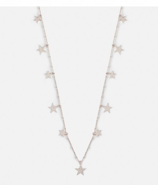 Orelia Ketting Falling Star Rope Necklace silver plated (23349)