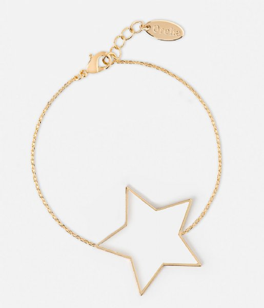 Orelia Armband Large Open Star Bracelet pale gold plated (23360)