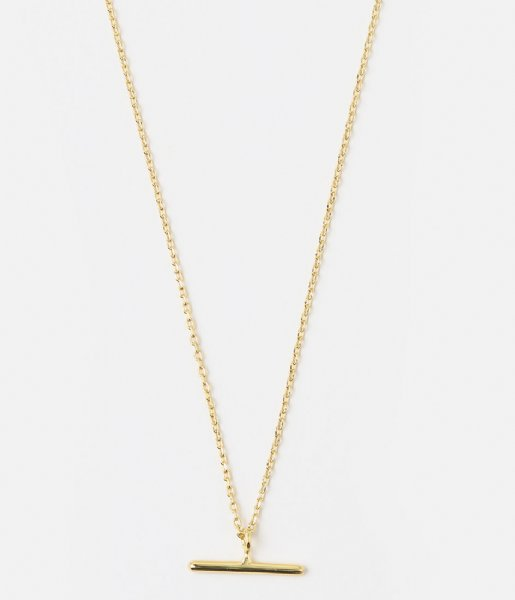Orelia Ketting T-Bar Ditsy Necklace gold plated (ore25056)