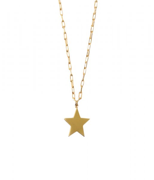 Orelia Ketting Star Collar Length Necklace pale gold plated (ORE25159)