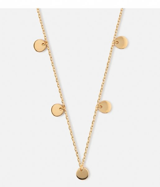 Orelia Ketting Multi Disc Drop Necklace Gold gold plated (ORE24103)