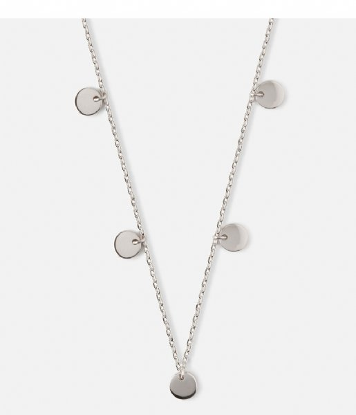 Orelia Ketting Multi Disc Drop Necklace Gold silver plated (ORE24104)