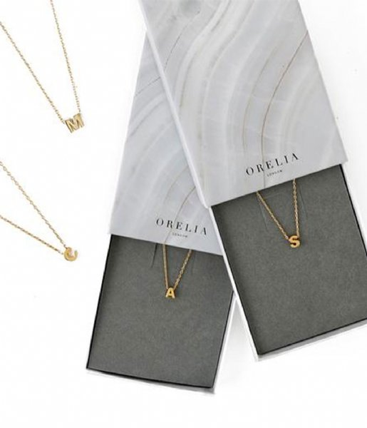 Orelia Ketting Necklace initial L Gold plated (ORE26354)