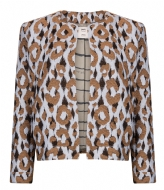 POM Amsterdam Jacket Bright Leopard light blue (sp5547)