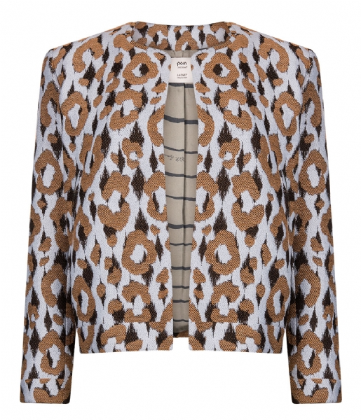 POM Amsterdam Vest Jacket Bright Leopard light blue (sp5547)
