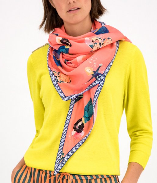 POM Amsterdam Sjaal Shawl Lucky Charms Coral by Katja Coral