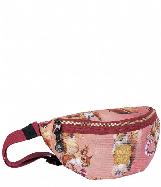 Pick & Pack Heuptas Squirell Fanny Pack dusty pink (61)