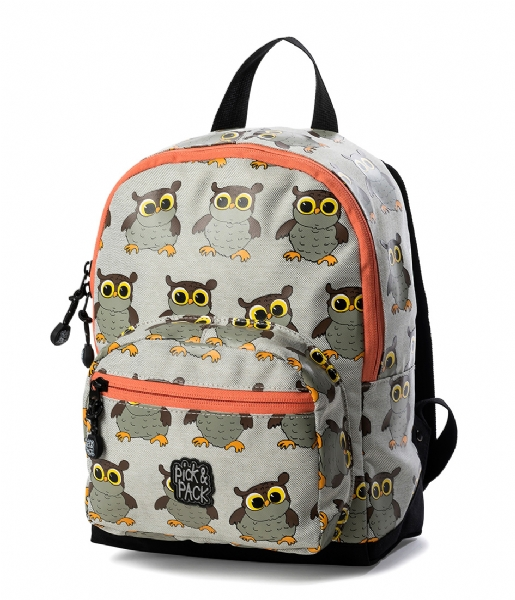 Pick & Pack Dagrugzak Backpack Owl light grey