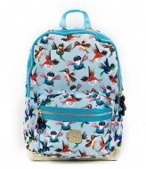 Pick & Pack Birds Backpack M 13 Inch Dusty blue (71)