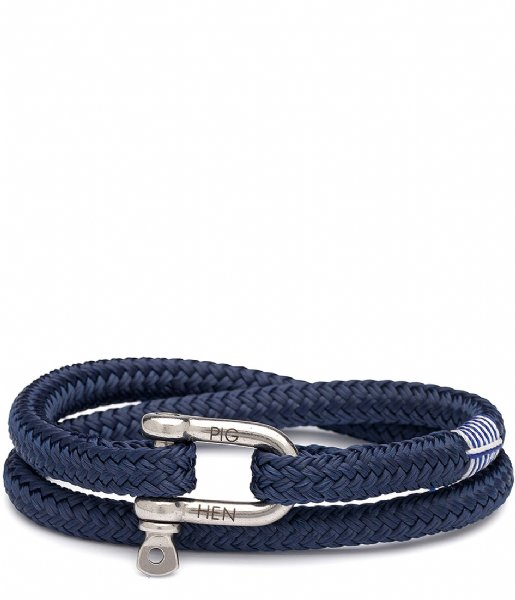 Pig and Hen Armband Salty Steve 20 cm navy silver colored (063000)