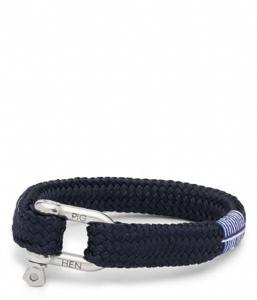 Pig and Hen Armband Gorgeous George navy silver (063000)
