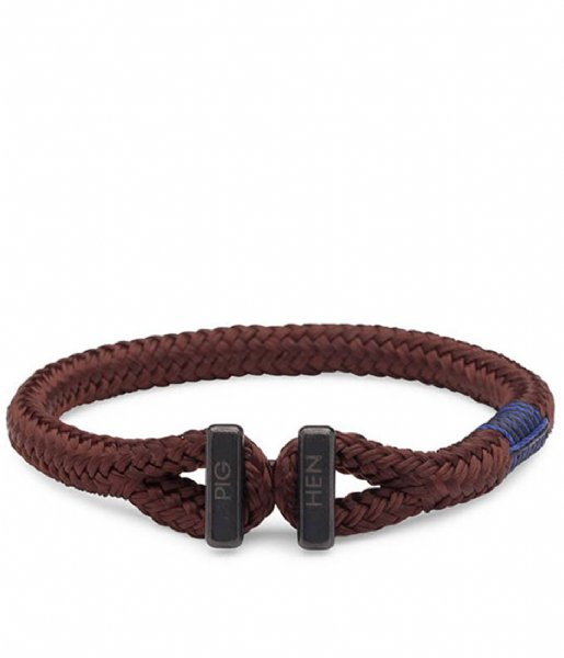 Pig and Hen Armband Padre Paco Bracelet 18 cm brown