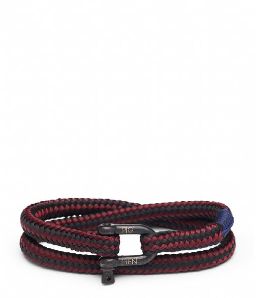 Pig and Hen Armband Salty Steve 20 cm 243902 Bordeaux Black Black