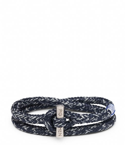 Pig and Hen Armband Tiny Ted 20 cm 163814 Navy Light Gray Silver