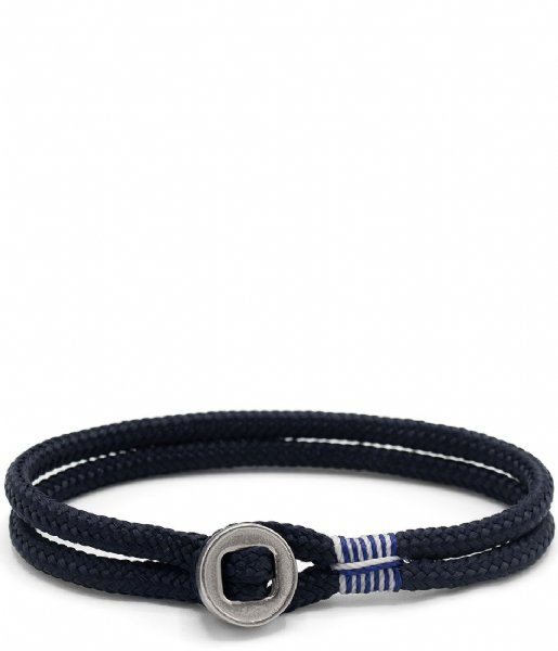 Pig and Hen Armband Don Dino navy silver colored (163000)