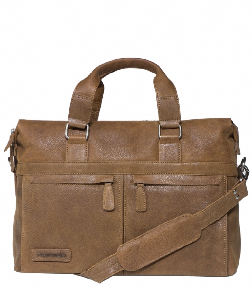 Plevier Laptop schoudertas Laptop Bag 472 15.6 inch cognac
