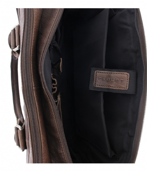 Plevier Laptop schoudertas Laptop Bag 482 15.6 inch brown
