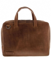 Plevier Midlothian Document Laptop Bag 707 14 Inch cognac
