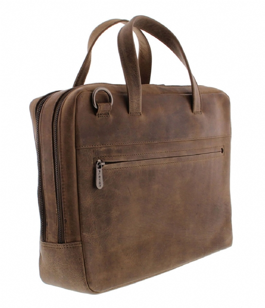 Plevier Laptop schoudertas Midlothian Document Laptop Bag 707 14 Inch taupe