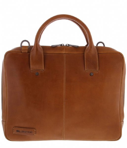 Plevier Laptop schoudertas Laptop Bag 855 14 Inch cognac