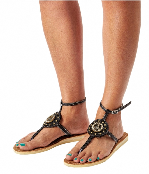 Pretty Hot And Tempting Slippers Flipflops Snake Peace black snake (18204)