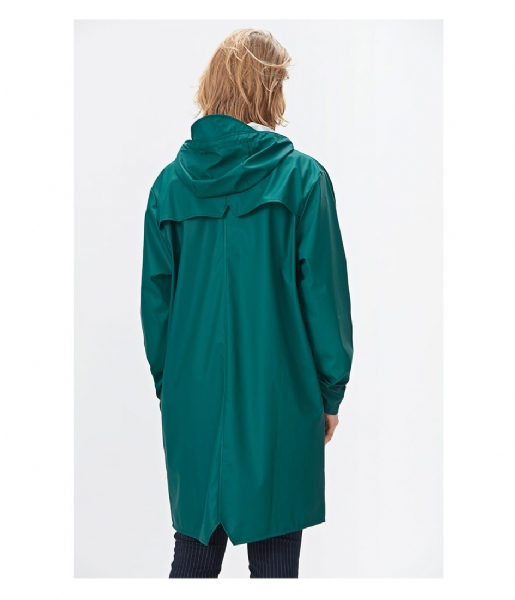 Rains Regenjas Long Jacket dark teal (40)