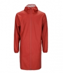 Rains-Regenjassen-Base Jacket Long-Rood