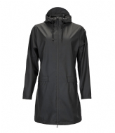 Rains W Coat black (01)