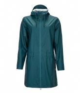 Rains W Coat dark teal (40)