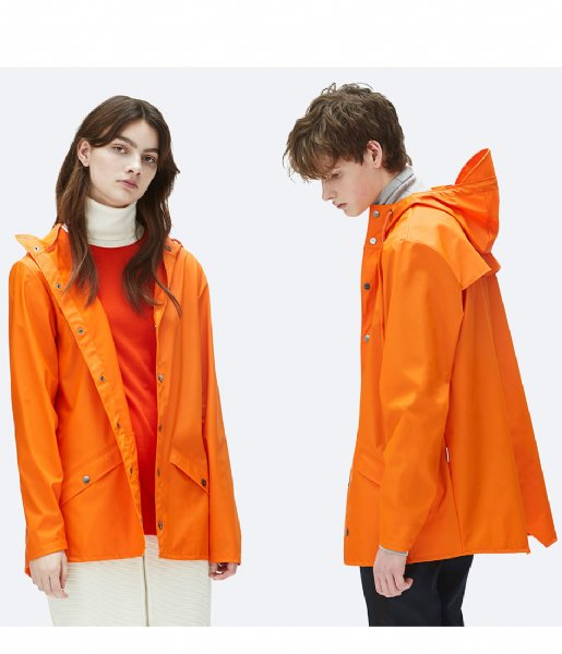 Rains Regenjas Jacket fire orange (83)