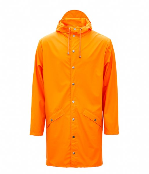 Rains Regenjas Long Jacket fire orange (83)