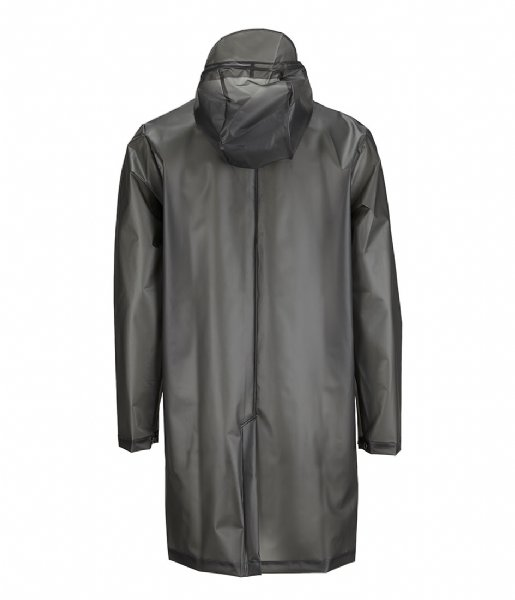 Rains Regenjas Hooded Coat foggy black (44)