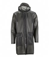 Rains Hooded Coat foggy black (44)