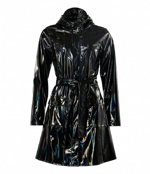 Rains Regenjas Holographic Curve Jacket holographic black (25)