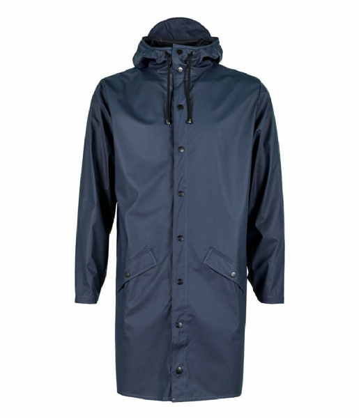 Rains Regenjas Long Jacket blue (02)