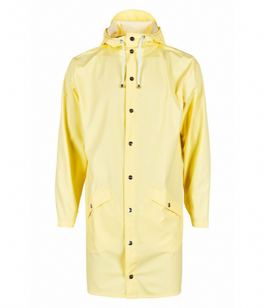 Rains Regenjas Long Jacket wax yellow (17)