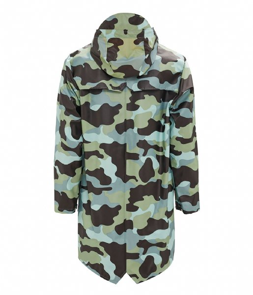 Rains Regenjas AOP Long Jacket sea camo (70)