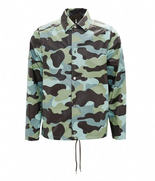 Rains Regenjas AOP Coach Jacket sea camo (70)