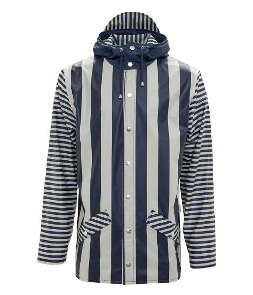 Rains Regenjas LTD Jacket distorted stripes (69)