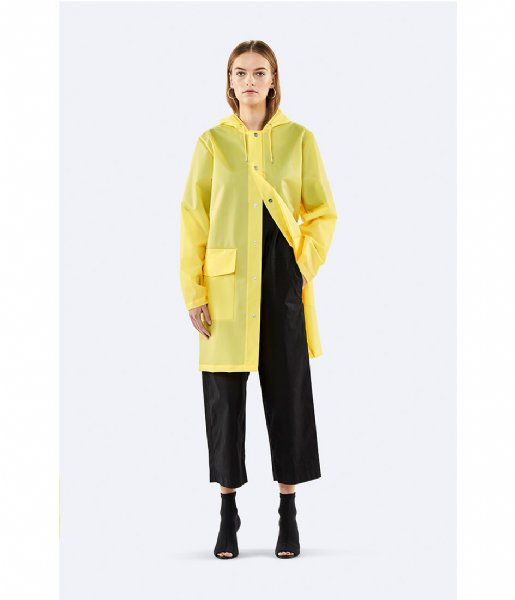 Rains Regenjas Hooded Coat foggy yellow (97)