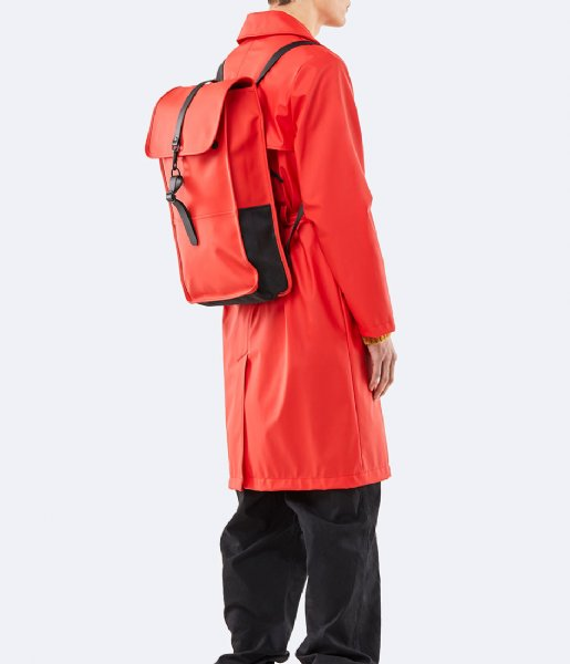 Rains Laptop rugzak Backpack 13 Inch red (08)