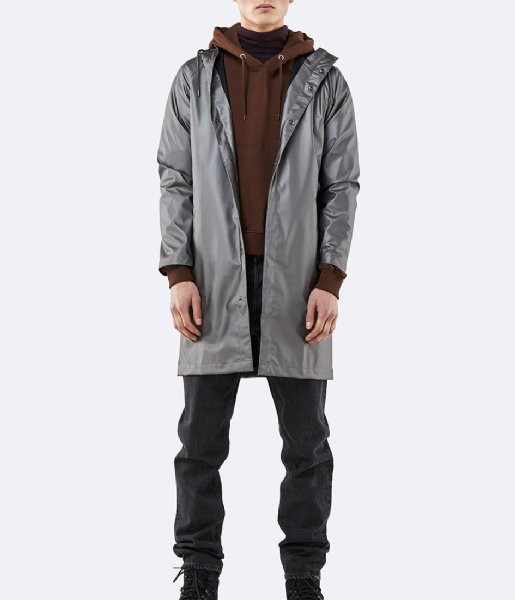 Rains Regenjas Coat metallic charcoal (15)