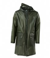 Rains Hooded Coat foggy green (80)