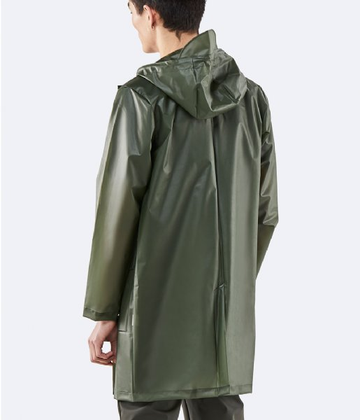 Rains Regenjas Hooded Coat foggy green (80)