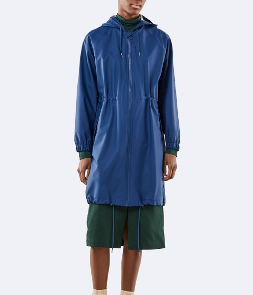 Rains Regenjas Long W Jacket klein blue (06)