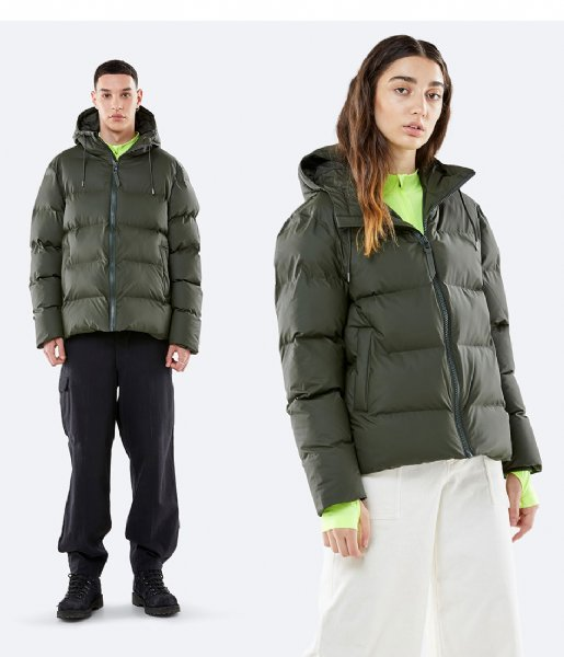 Rains Winterjas Puffer Jacket green (03)
