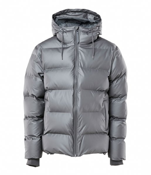 Rains Winterjas Puffer Jacket metallic charcoal (15)