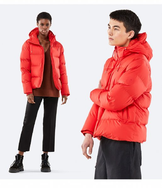 Rains Winterjas Puffer Jacket red (08)